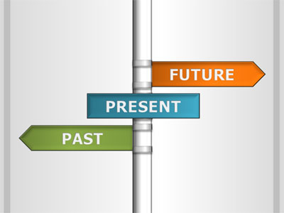 ID# 19304 - Past Present Future - PowerPoint Template