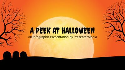 ID# 19368 - Peek At Halloween - PowerPoint Template