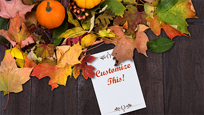 Thanksgiving Cards A PowerPoint Template from PresenterMediacom