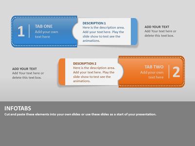 Info tabs a powerpoint template from presentermedia toneelgroepblik Choice Image