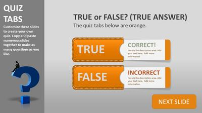 Quiz tabs a powerpoint template from presentermedia toneelgroepblik Image collections