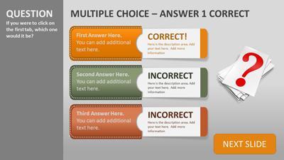 Quiz tabs a powerpoint template from presentermedia toneelgroepblik Images