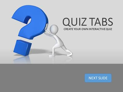 Quiz Tabs - A PowerPoint Template from PresenterMedia.com