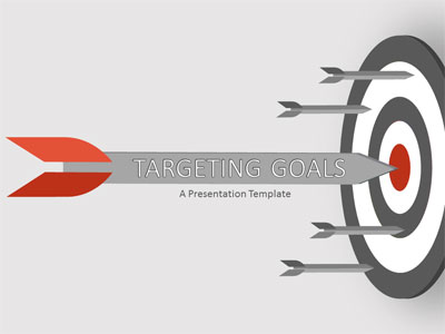 ID# 19524 - Target Goal - PowerPoint Template