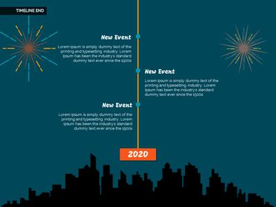 Happy New Year City Fireworks A Powerpoint Template From
