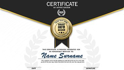 Loaded certificate a powerpoint template from presentermedia powerpoint template loading preview close toneelgroepblik Choice Image