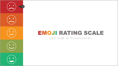ID# 20227 - Left Side Emoji Rating Toolkit - PowerPoint Template