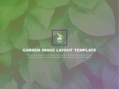 ID# 20355 - Garden Image Layout Template - PowerPoint Template