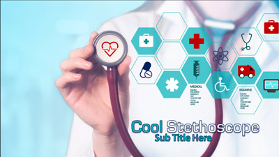 ID# 20452 - Cool Stethoscope - PowerPoint Template