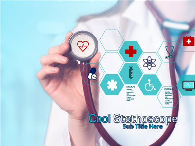 ID# 20456 - Cool Stethoscope - PowerPoint Template