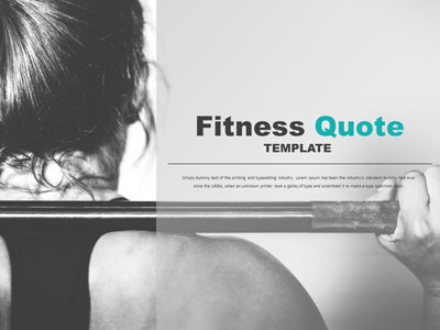ID# 20654 - Fitness Quote - PowerPoint Template