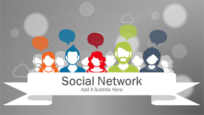 ID# 20769 - Social Network - PowerPoint Template