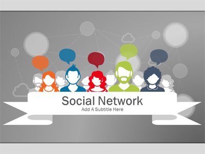 ID# 20770 - Social Network - PowerPoint Template