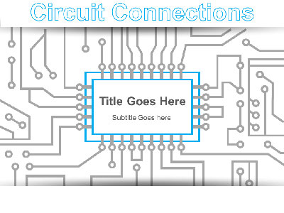 ID# 20808 - Microchip Circuit Connections - PowerPoint Template