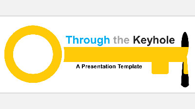 ID# 20943 - Through The Keyhole - PowerPoint Template