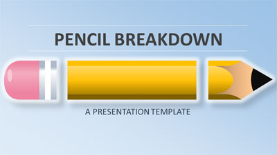 ID# 21036 - Pencil Breakdown - PowerPoint Template