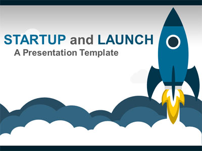 ID# 21116 - Rocket Ship Blast Off - PowerPoint Template