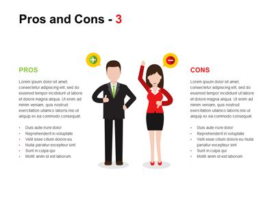 Pros And Cons A PowerPoint Template From