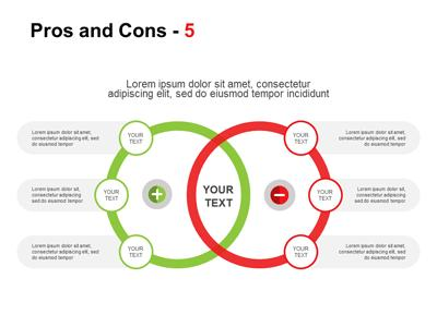 pros and cons a powerpoint template from presentermedia com
