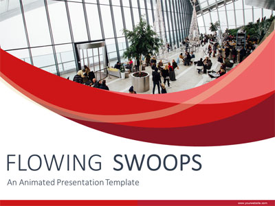ID# 21488 - Flowing Swoops - PowerPoint Template
