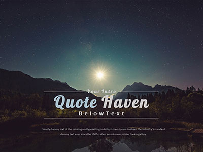 ID# 21643 - Quote Haven - PowerPoint Template