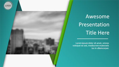 Abstract Wrap PowerPoint Template