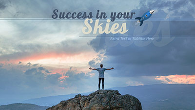 ID# 21693 - Success In Your Skies - PowerPoint Template