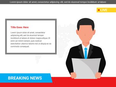 Breaking News Custom - HD Video Backgrounds - Video