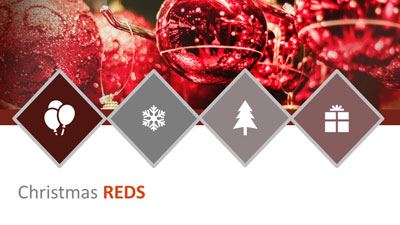 ID# 22176 - Christmas Reds - PowerPoint Template