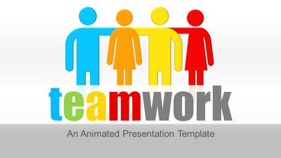ID# 22309 - Teamwork Concept for PowerPoint - PowerPoint Template