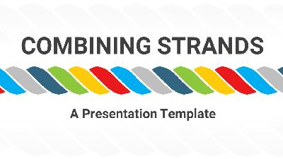 ID# 22311 - Combining Strands Concept for PowerPoint - PowerPoint Template