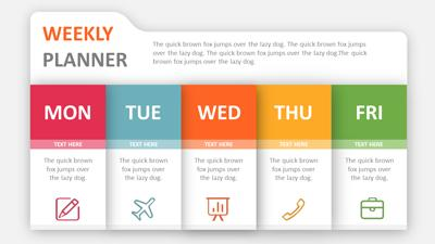 weekly planner PowerPoint template thumbnail preview