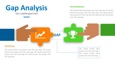 gap analysis PowerPoint template thumbnail preview