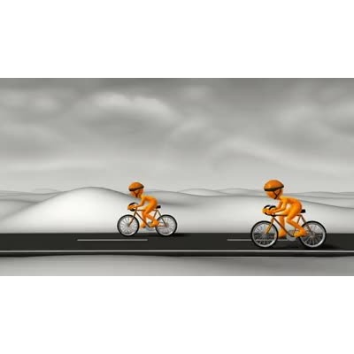 ID# 6106 - Street Cyclist Racers - Video Background