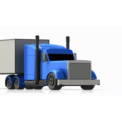 ID# 6142 - Semi Freight Truck Driving - Video Background