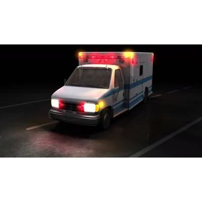 ID# 6164 - Ambulance Flashing Lights - Video Background