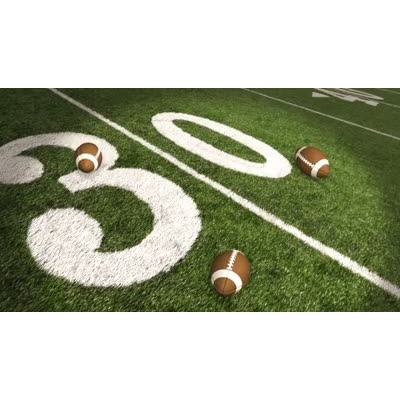 ID# 6408 - Footballs Dropping On Field - Video Background