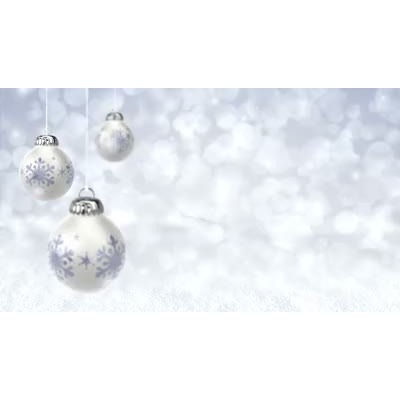 ID# 6793 - Christmas Ornaments - Video Background