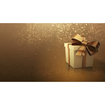 ID# 6824 - Golden Present - Video Background