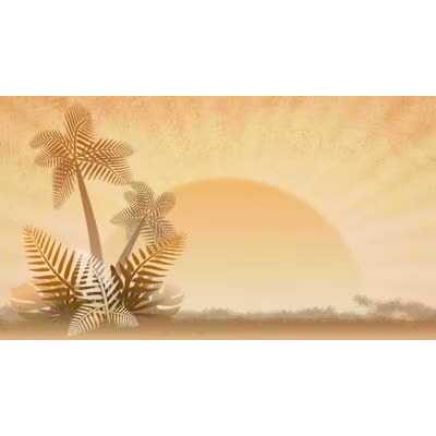 ID# 8694 - Summer Palms - Video Background