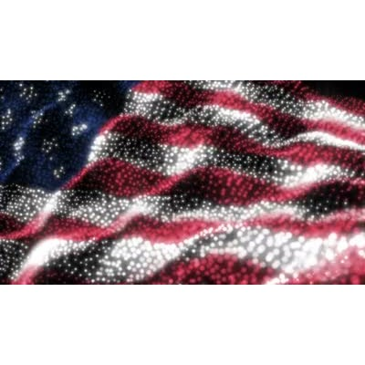 ID# 8714 - Usa Particle Flag - Video Background