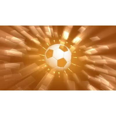 ID# 8764 - Glowing Soccer Ball - Video Background