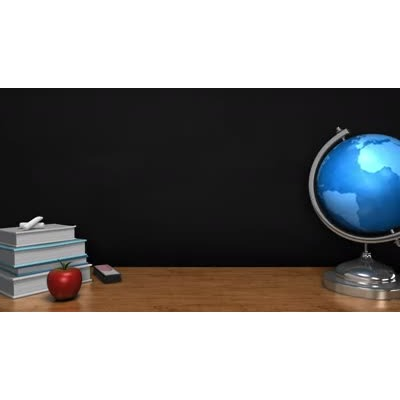 ID# 9178 - Globe Spinning In Classroom - Video Background