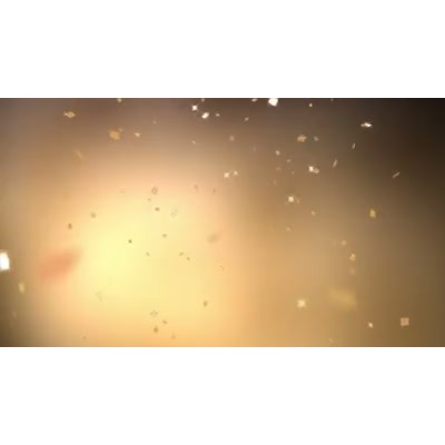 ID# 9355 - Golden Confetti - Video Background