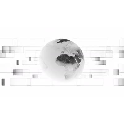 ID# 9625 - Black And White Earth - Video Background