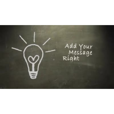 ID# 9706 - Draw Lightbulb Text - Video Background