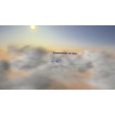 ID# 9714 - Cloud Race Text - Video Background