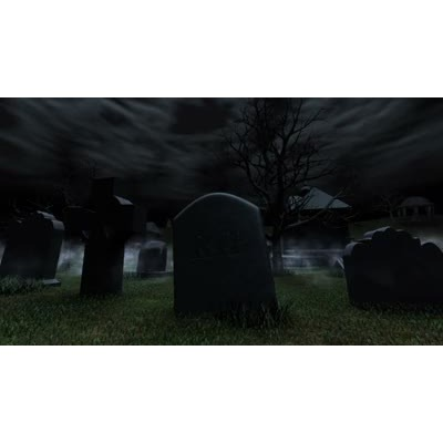 ID# 9773 - Foggy Graveyard - Video Background