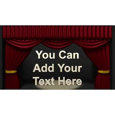 ID# 9935 - Theater Curtains Opening Text - Video Background