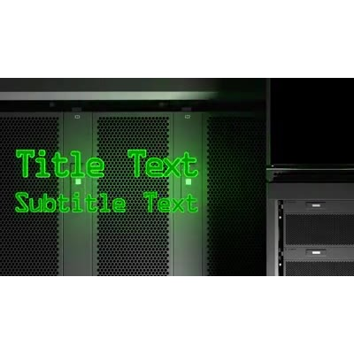 ID# 9951 - Server Station Text - Video Background